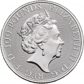 Queen's Beasts White Horse 1 oz Platin 2021 - Wertseite