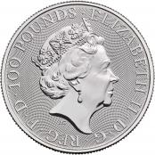 Queen's Beasts White Lion 1 oz Platin 2021 - Wertseite