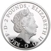 Queen's Beasts White Lion 1 oz Silber 2020 Proof - Wertseite
