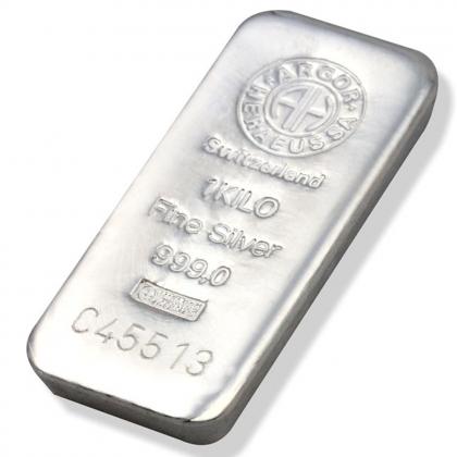 Silberbarren 1 kg Argor-Heraeus