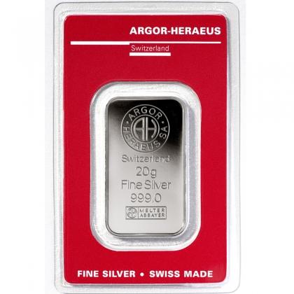 Silberbarren 20 g Argor-Heraeus
