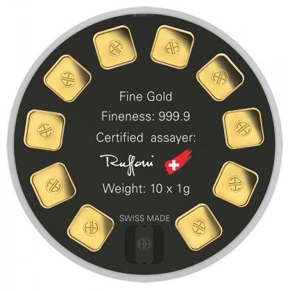 Goldseed 10 x 1 Gramm Argor-Heraeus