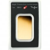 Goldbarren 1 oz Argor-Heraeus - Blister Rückseite