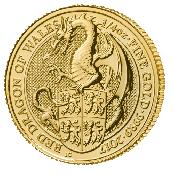 Queen's Beasts Dragon 1 oz Gold 2017 - 3 D Ansicht