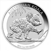 Koala 1 oz Silber 2016 - Der Koala wird mit jährlich wechselnden Motiven ausgegeben.