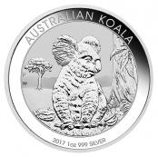 Koala 1 oz Silber 2017 - Der Koala wird mit jährlich wechselnden Motiven ausgegeben.