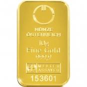 Goldbarren kinebar™ 10 Gramm - Logo der Münze Österreich