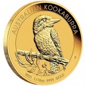 Kookaburra 1/10 oz Gold 2021 - 3 D