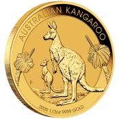 Kangaroo 1/2 oz Gold 2020- 3 D Ansicht