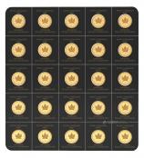 Maplegram Gold 2020 - Auf der Vorderseite der Münze ist das charakteristische Ahornblatt abgebildet.