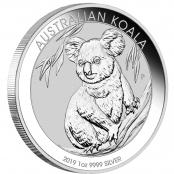 Koala 1 oz Silber 2019 - Der Koala wird mit jährlich wechselnden Motiven ausgegeben.