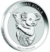 Koala 1 oz Silber 2020 - Der Koala wird mit jährlich wechselnden Motiven ausgegeben.