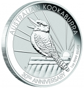 Kookaburra 1 oz Silber 2020 - Auflage 500.000