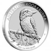 Kookaburra 1 oz Silber 2021 - Auflage 500.000