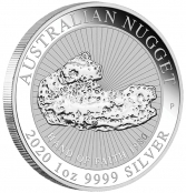 "1 oz. Australian Nugget ""Hand of Faith"" 2020  - Auflage 30.000 Stück"
