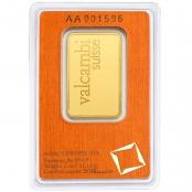 Goldbarren 1 Unze - Rückseite Blister