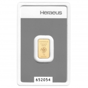 Goldbarren kinebar™ 2 Gramm Heraeus - Blister