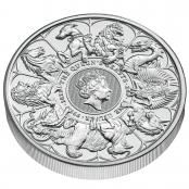 Queen's Beasts Completer Coin 2 oz Silber 2021 - 3d