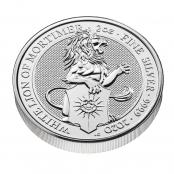Queen's Beasts White Lion 2 oz Silver 2020 - 3 D Ansicht