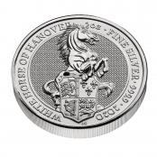 Queen's Beasts White Horse 2 oz Silber 2020 - 3 D Ansicht