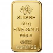Goldbarren 50 Gramm Fortuna