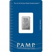 Palladiumbarren  5 Gramm PAMP Suisse - Blister Vorderseite
