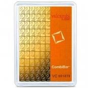 100 x 1 g Gold CombiBar Valcambi - Blister