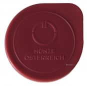 Münztube Gold Philharmoniker 1/25 - Logo der Münze Österreich