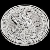 Queen's Beasts Lion 1 oz Platin 2017 - 3d