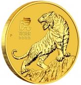 Lunar III - Tiger 1/10 oz Gold 2022 - 3 D Ansicht