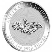 Australian Nugget 1 oz Silber Golden Eagle  - Auflage 30.000 Stück