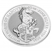 Queen's Beasts White Horse 10 oz Silber 2021 - 3 d