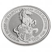 Queen's Beasts White Horse 1 oz Platin 2021 - 3 D Ansicht