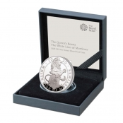 Queen's Beasts White Lion 1 oz Silber 2020 Proof