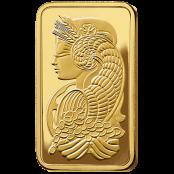 Goldbarren 100 Gramm Fortuna - Motivseite mit Lady Fortuna