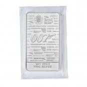 Silberbarren James Bond 10 oz - Auflage: 6.000 Stück