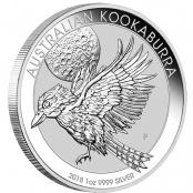 Kookaburra 1 oz Silber 2018 - größten Eisvogel der Welt in Silber