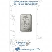 Platinum Bar 20 Gram PAMP Suisse