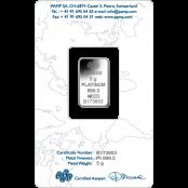 Platinum Bar 5 Gram Fortuna - Blister Rückseite