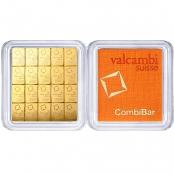 20 x 1 g Gold CombiBar Valcambi - Blister Front