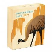 Emu 1 oz Silber 2019 Proof - Box