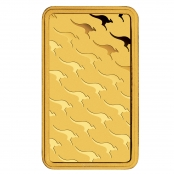 Goldbarren Perth Mint Kangaroo 1 oz - Rückseite mit Kangaroo Motiv