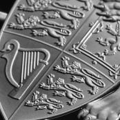 Queen's Beasts Lionn 10 oz Silber 2017 Proof - Wappen