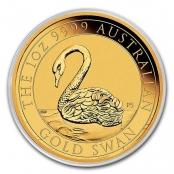 Schwan 1 oz Gold 2021 - Kapsel