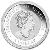 Schwan 1 oz Silber 2021 - Kapsel Rückseite