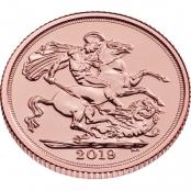 Gold Sovereign 2019 - 3 D Ansicht