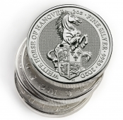 Queen's Beasts White Horse 2 oz Silber 2020 - 10 er