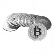 Bitcoin Münze aus Silber 1 oz (Niue) - 10er