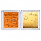20 x 1 g Gold CombiBar Valcambi  Blister Rückseite