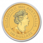 Schwan 1 oz Gold 2021 - Kapsel Rückseite